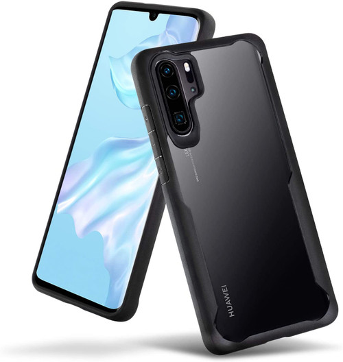 Black Full Body Case Transparent Shell Back Cover  For Huawei P30  - 1
