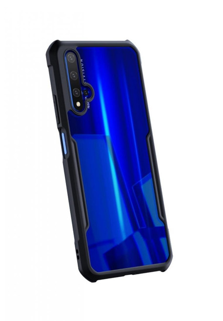 Black Huawei Nova 5T Bumper Shockproof Full Body Case Cover - 1