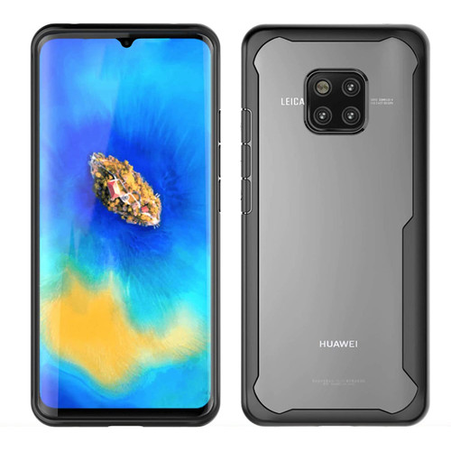 Black Full Body Case Transparent Shell Back Cover  For Huawei Mate 20  - 1