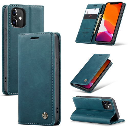 Blue iPhone 12 Pro CaseMe Synthetic Leather Wallet Case - 1