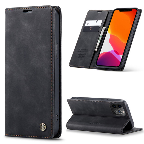Black iPhone 12 Pro Max Genuine CaseMe Compact Flip Wallet Case - 1