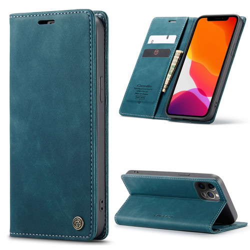 Blue Genuine CaseMe Compact Flip Wallet Case For iPhone 12 Pro Max  - 1