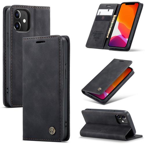 Black iPhone 12 Mini Premium CaseMe Thin Magnetic Wallet Case - 1