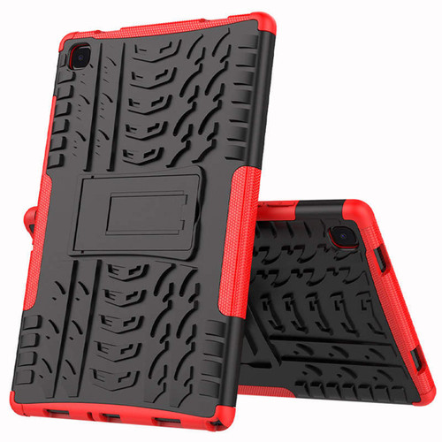 """Red Heavy Duty Stand Case For Samsung Galaxy Tab A 10.4"""" T505, T500 - 1"""
