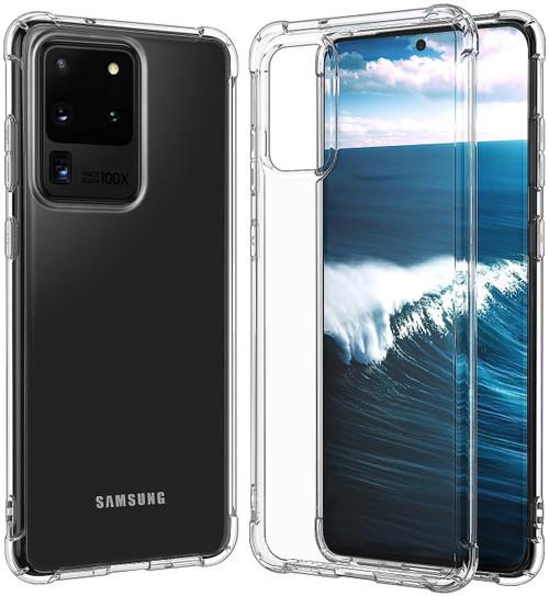 Clear Samsung Galaxy S20 Ultra Slim Clear TPU Gel Bumper Case Cover - 1