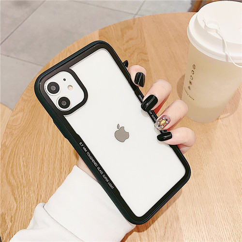 Black Clear Acrylic Back Tough Protective Case For Apple iPhone 11  - 1