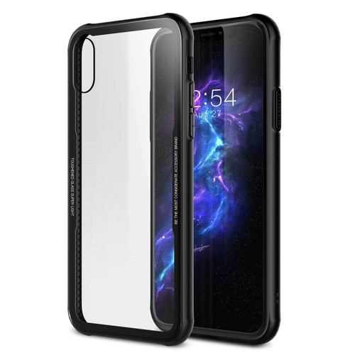 Black Clear Acrylic Back Tough Protective Case For Apple iPhone XR  - 1