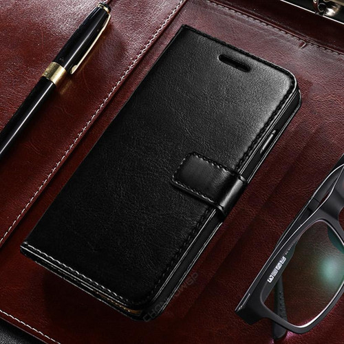 Black Samsung Galaxy A21s Stylish Mercury Mansoor Wallet Case - 1