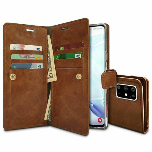 Brown Genuine Mercury Mansoor Diary Wallet For Samsung Galaxy A21s  - 1