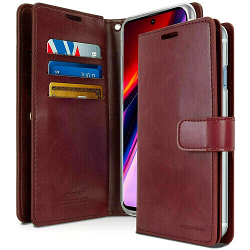 Red Wine Samsung Galaxy A21s Genuine Mercury Mansoor Diary Wallet - 1
