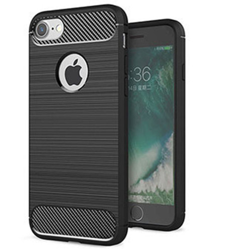 Black iPhone 5 / 5S / SE 1st Gen Slim Armor Carbon Fibre Case - 1