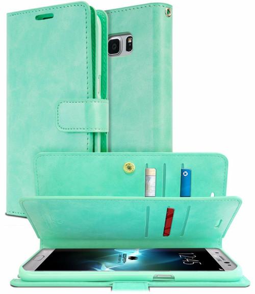 Mint Green Galaxy S10+ Plus Genuine Mercury Mansoor Wallet Case - 1