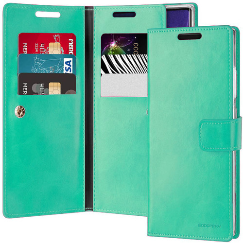 Mint Green Galaxy Note 20 Ultra Mercury Mansoor Wallet Case Cover - 1