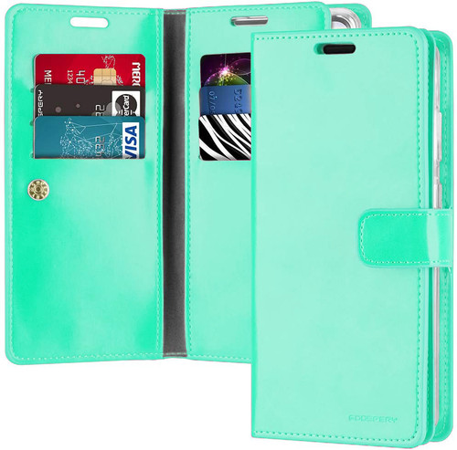 Mint Green Galaxy S20 Ultra Genuine Mercury Mansoor Wallet  Card Case - 1