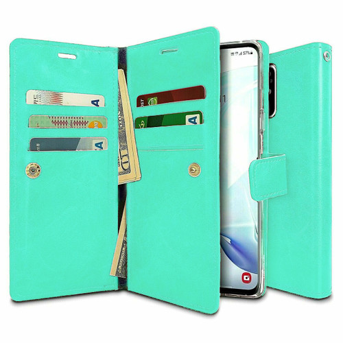 Mint Green Samsung Galaxy A21s Genuine Mercury Mansoor Wallet Case - 1