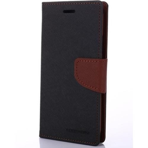 Mercury Goospery Fancy Diary iPhone 4S / 4 Wallet Case - Black / Brown