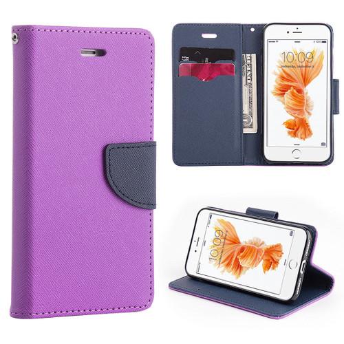 Mercury Goospery Fancy Diary iPhone 4S / 4 Wallet Case - Purple / Navy