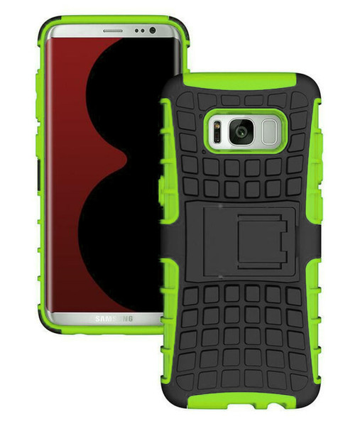 Green Heavy Duty Rugged Kickstand Case For Samsung Galaxy Note 8 - 1