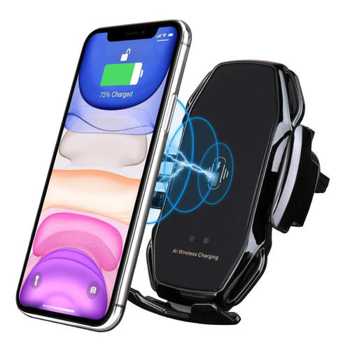 A5 Wireless Car Charger, 15W Qi Auto-Clamping Air Vent Phone Holder - 1