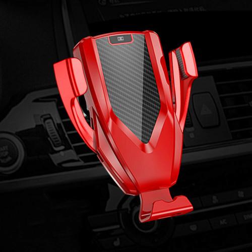 Ferrairi Red M8 10W Wireless Car Charger - AI Intellisense Phone Holder - 1