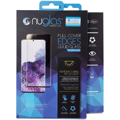 Galaxy S9 NUGLAS Full Cover UV Glue Tempered Glass Screen Protector - 1