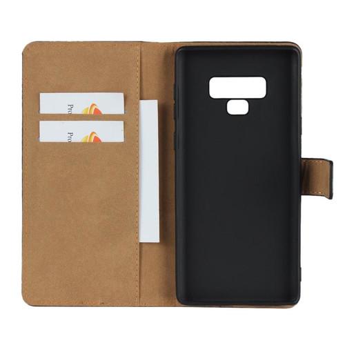 Black Samsung Galaxy Note 9 Genuine Leather Business Wallet Case - 1