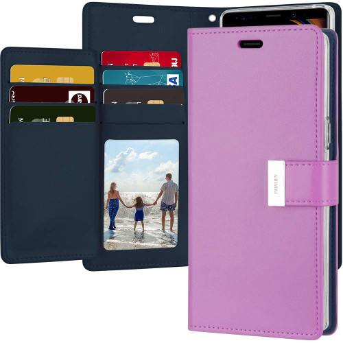 Purple Mercury Rich Diary Wallet Card Slot Case for Galaxy Note 9 - 1
