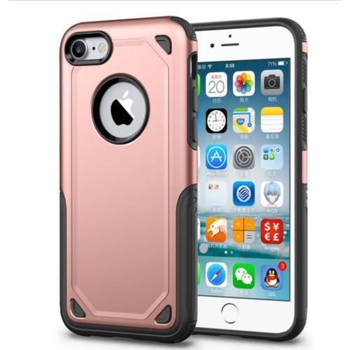 Rose Gold Slim Armor Bumper Grip Case For Apple iPhone 7 / 8 - 1