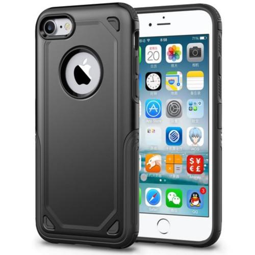 Black Apple iPhone 7 / 8 Slim Armor Bumper Grip Case Cover - 1