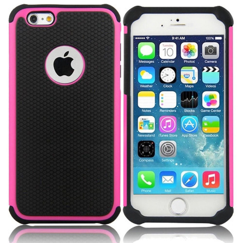Hot Pink Apple iPhone 6 / 6S Heavy Duty Defender Case Cover