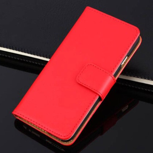 Red Apple iPhone 6 / 6S Genuine Leather Wallet Case - 1