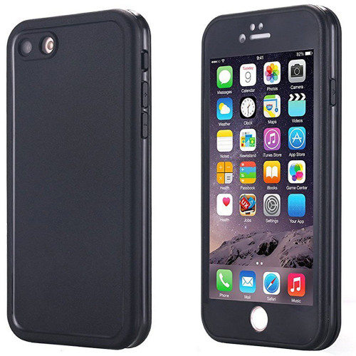 Black iPhone 6 / 6S Heavy Duty Full Body Coverage Silicone Gel Case  - 1