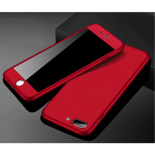 Red Full Protection Case + Tempered Glass Protector for iPhone 6 / 6S - 1