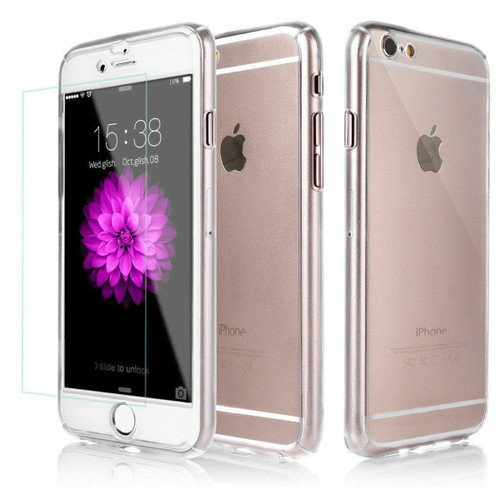 Clear Full Protection Case + Tempered Glass Protector for iPhone 6 / 6S