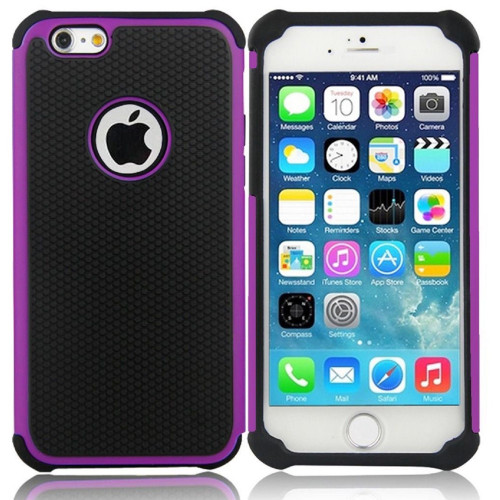 Purple Heavy Duty Defender Case For Apple iPhone 7 / 8