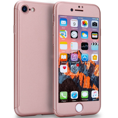 Rose Gold Full Body 360 Degree Protection Case for iPhone 7 Plus / 8 Plus - 1