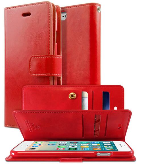 Red Genuine Mercury Mansoor Wallet Case For iPhone 5 / 5S / SE 1st Gen - 1