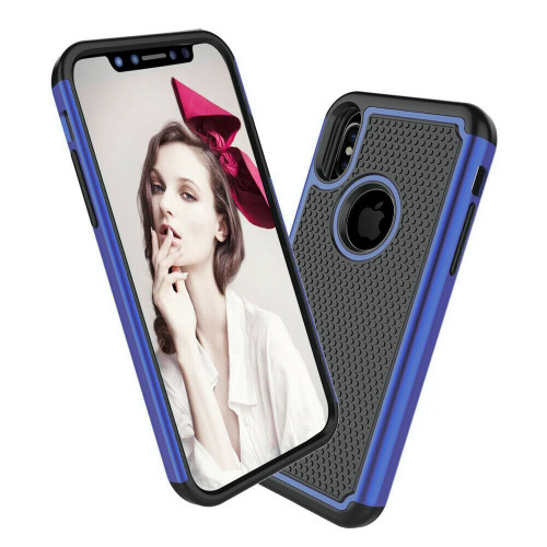 Blue Heavy Duty Defender Shock Proof Case For Apple iPhone X / XS - 1
