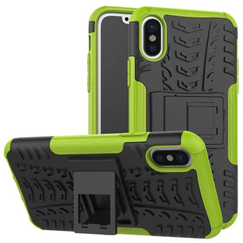 Green Apple iPhone XS Max Heavy Duty Shock Proof Kickstand  Case