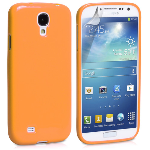 Orange Gloss Gel Case for Samsung Galaxy S4