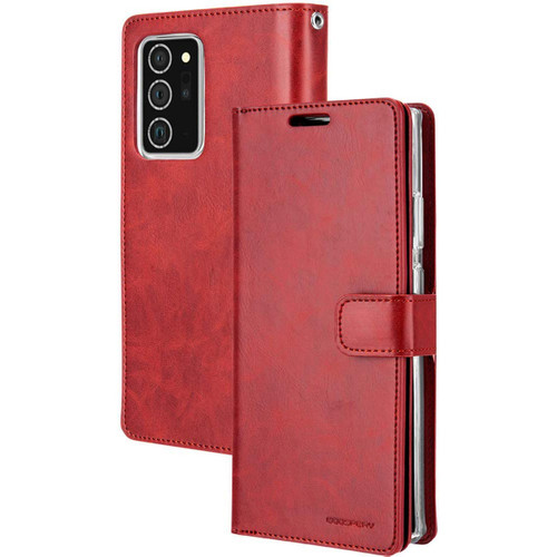 Red Galaxy Note 20 Ultra Mercury Mansoor 9 Card Slot Wallet Case - 1