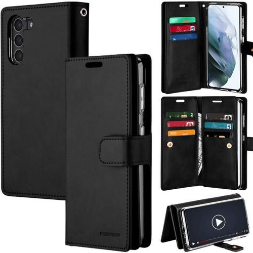 Black Galaxy S21 Genuine Mercury Mansoor Wallet Case Cover - 1