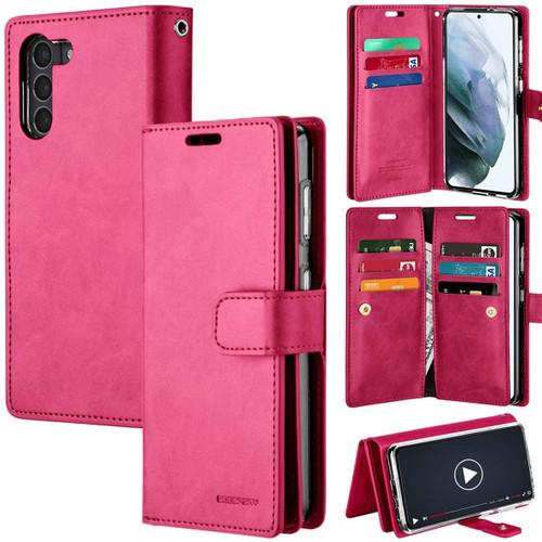 Stylish Hot Pink Galaxy S21 Genuine Mercury Mansoor Wallet Card Case - 1