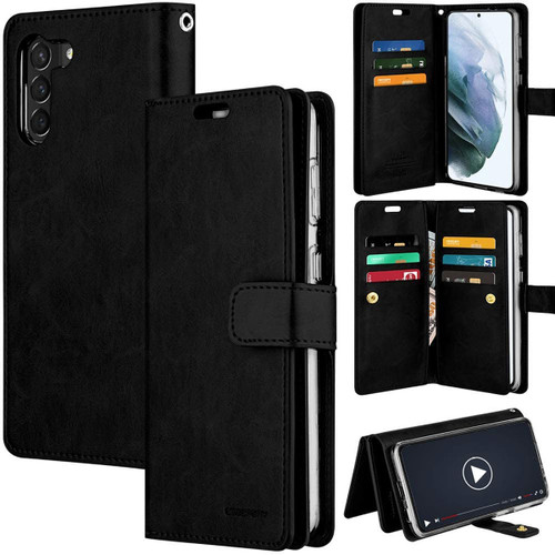 Black Genuine Mercury Mansoor Wallet Case For Galaxy S21+ / S21+ 5G - 1