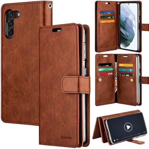 Brown Galaxy S21+ / S21+ 5G Genuine Mercury Mansoor Wallet Case - 1