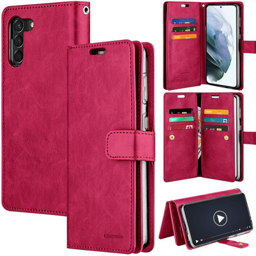 Hot Pink Mercury Mansoor Wallet Case For Galaxy S21+ / S21+ 5G - 1