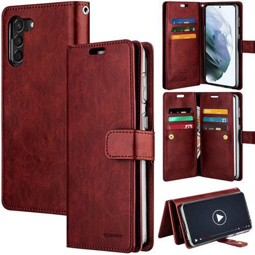 Classy Wine Mercury Mansoor Wallet Case For Galaxy S21+ / S21+ 5G - 1