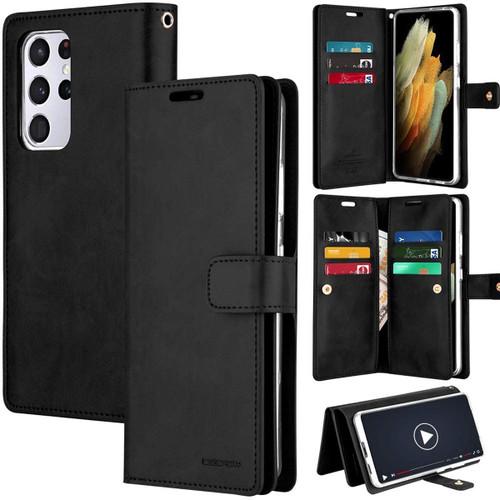 Black Genuine Mercury Mansoor Wallet Case For Galaxy S21 Ultra - 1