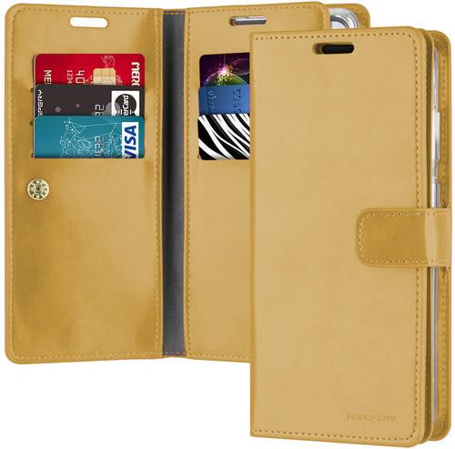 Gold Galaxy S21 Genuine Mercury Mansoor Wallet Case Cover - 1