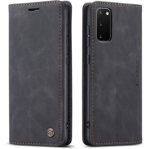 Black Galaxy S20 CaseMe Wallet Classic Magnetic Handmade Phone Case - 1